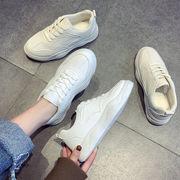 白い靴 女 新しいデザイン 冬 何でも似合う 古い ? フラット 裏起毛 韓国風 運動