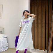 【春夏新作】ファッションワンピース♪ブルー/ピンク/ホワイト3色展開◆