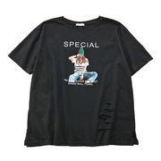 夏 新しいデザイン 韓国風 ストリーム 美しい 女 プリント 穴あき 半袖Tシャツ 学生