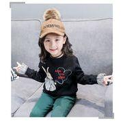 キッズ洋服 気質 ストライプス 袖 + セーター 冬 新しいデザイン 女 赤ちゃん ファ