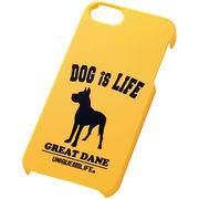 iPhone5/iPhone5sスマホケースハードケース ドッグシルエット グレートデーン