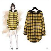 【大きいサイズXL-5XL】ファッション/人気ワイシャツ♪イエロー/アカ2色展開◆