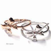 【日本製】キュートなリボン☆Lovely Ring☆SILVER925ピンキーリング【2色展開】/SR-2930