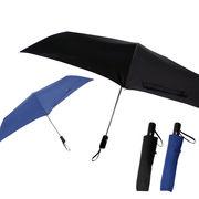 [55cm]折りたたみ傘 安全ストッパー付き 自動開閉式 耐風仕様 男女兼用 ユニセックス