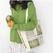 シェルダーバッグ 帆布 エコバッグ キャンパス 布地 大容量 通学 英字 新聞