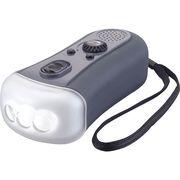 ダイナモ充電器FMラジオLEDライト 77700