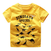 北欧柄 キッズ 半袖Tシャツ 恐竜