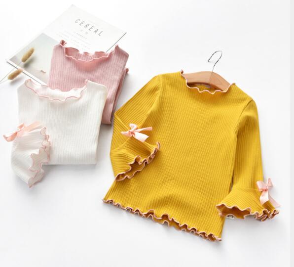Tシャツ インナー 春秋 長袖 3色 100-140 キッズ服 子供 ブラウス トップス カジュアル系