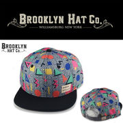 BROOKLYN HAT CO GEOMETORY FLAT BILL  17362