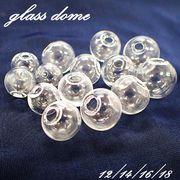 ガラスドーム【10個売り 選べる4サイズ】 ガラスボール スノードーム ドームアクセサリー ボールペン