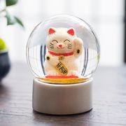 【Snow Globe】スノードーム 招き猫