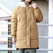 【SALE!!】【大人気アウターオリジナル&グレードアップで登場!】フードニット中綿コート 21041