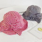 2019春夏★キッズ帽子★子供に向けの帽子★格子★日除け用★ベビー帽子★可愛い★2色