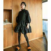 限定SALE インスタでも話題  韓国ファッション 個性的なデザイン  レトロ パフスリーブ ランタンスリーブ