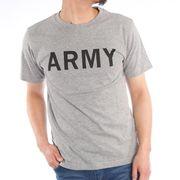 【2020春夏新作】 半袖Tシャツ メンズ クルーネック ARMYプリント アーミープリント 春 夏 ミリタリー