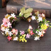 リゾート 造花花かんむり お花の冠 ヘッドドレス 写真撮影