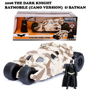 2008 THE DARK KNIGHT BATMOBILE W/BATMAN CAMO【バットモービル】【JADA ミニカー】