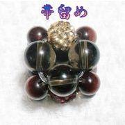 天然石 帯留め 和装アクセサリー 赤虎目石 煙水晶 ハンドメイド 日本製 スカーフ留め  OD