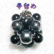 天然石 帯留め 和装 きらきらパーツ オニキス ハンドメイド 日本製 スカーフ留め  OD