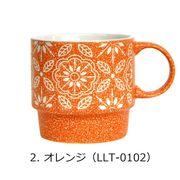 <AMANO>【マグカップ】フラワースタックマグ・オレンジ