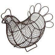 遊び心あふれるデザイン!■【T&G】アイアン製 チキンバスケット【ブラウン】(大)