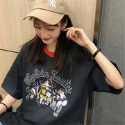 初回送料無料 2019 配色 カジュアル 半袖 Tシャツ 全3色 gjfch-19cs15春夏 新作