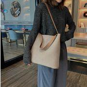 秋冬 バッグ ショルダーバッグ トートバッグ PU シンプル 気質 韓国 大容量 純色