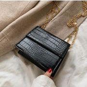 バッグ シンプル オシャレ チェーン 新作 ショルダーバッグ 韓国ファッション 2サイズ