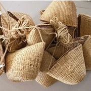 ☆カゴバッグ☆ 休暇 シェルダーバッグ  ハンドバッグ 編みバッグ 可愛い 手作り 草網バッグ