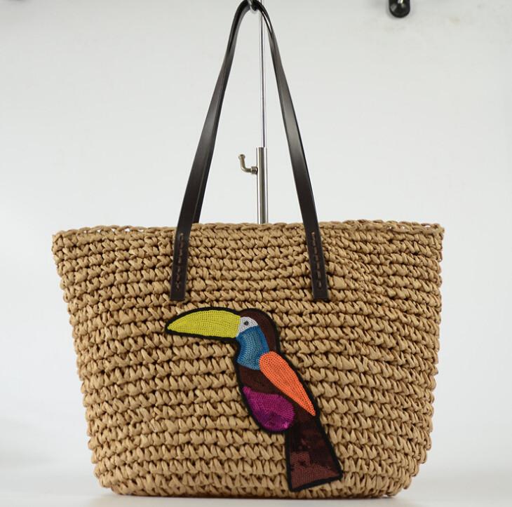 ☆カゴバッグ☆ 休暇 シェルダーバッグ ファッション個性  ハンドバッグ 編みバッグ 大容量 手作り