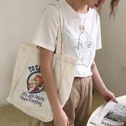 エコバッグ INS 漫画 オシャレ トートバッグ 帆布  バッグ 学生 ショルダーバッグ  旅行 韓国