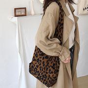 トートバッグ 帆布 豹柄 シンプル バッグ ショルダーバッグ エコバッグ CHIC ファッション