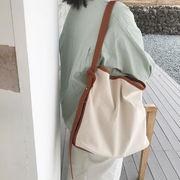 新作 エコバッグ バッグ ショルダーバッグ 大容量 INS 帆布 シンプル 韓国 ファッション