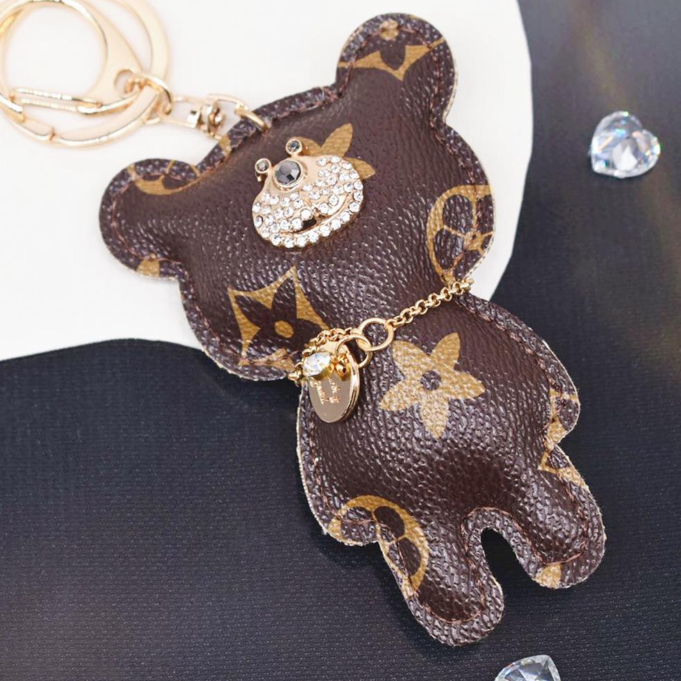 【即納】新品 バッグチャーム ハンドメイド リング付き パーツ キーホルダー 熊