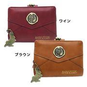 【財布:レディース】ピーターラビット がまぐち ショートウォレット メタル封蝋デザイン