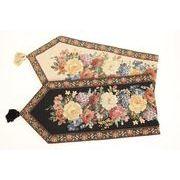 ゴブラン織り花柄テーブルランナー☆32cm×230cm