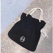 新作 バッグ ニット H 配色 ハンドバッグ 大人気 韓国 INS ファッション カバン