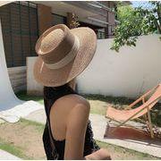 麦わら帽 カンカン帽 ハット 日焼け止め オシャレ ファッション 超大つば シンプル