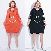 【春夏新作】ファッションワンピース♪オレンジ/ブラック2色展開◆
