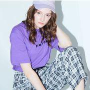 【19SS新作】ロゴ刺繍Tシャツ