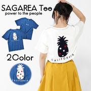【19SS新作】【実績商品】パイナップルサガラ刺繍Tシャツ