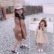 ハン 品 春服 新しいデザイン 女児 ワンピース 韓国風 長袖 アンティーク調 単一色