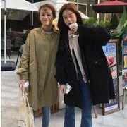 全2色 春装 レディースアウター 中長スタイル ジャケット カーディガン コート ゆったり 韓国ファション