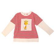 女児 レジャー 漫画 シャツ 春バージョン キッズ洋服 韓国風 ストライプス セーター