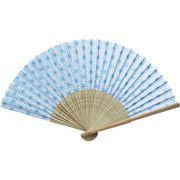日本の伝統柄扇子 麻の葉(すす竹)