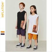 キッズ メッシュ サルエルショーツ 半ズボン 格安 ストリート 短パン  女の子 男の子 韓国子供服【SALE】
