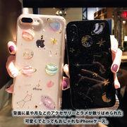 ケース iPhone XS XR Max かわいい  クリア ケース おしゃれ キラキラ ラメ 星 月 スマホケース TPU