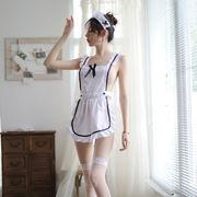 【即日出荷】白 エプロン メイド服  コスプレ衣装【5408】