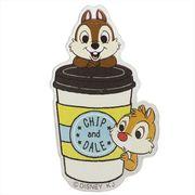 【缶バッジ】チップ&デール ダイカット クリル バッジ/カフェ