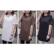 【春夏新作】ファッション/人気Tシャツ♪ブラウン/ホワイト/ブラック3色展開◆
